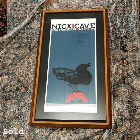 Nick Cave silkscceen concert  Jeff Kleinsmith 2001