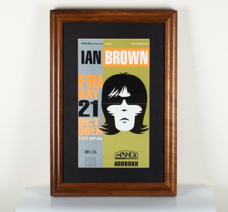 Ian Brown Concert poster Greece  2005