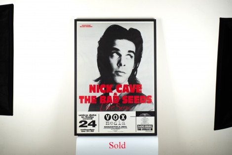 Nick Cave Concert Poster Italy 1994