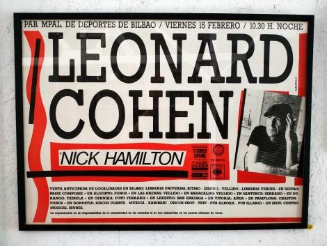 Leonard Cohen Concert Poster, Spain 1985